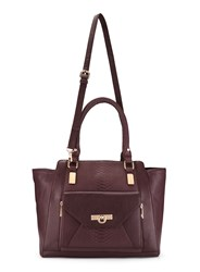 Miss Selfridge Contrast Oversized Tote Red