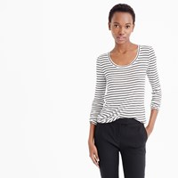 J.Crew 10 Percent Long Sleeve T Shirt In Stripe