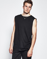 The Idle Man Sleeveless Long Line Tank Top