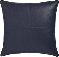 Cb2 Mac Leather 16'' Pillow With Down Alternative Insert