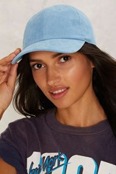 Strike None Vegan Suede Baseball Cap Blue