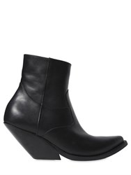 Vetements 80Mm Cowboy Leather Ankle Boots