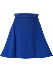 Antonio Berardi High Waisted A Line Skirt Blue