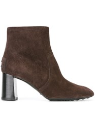 Tod's High Ankle Boots Brown