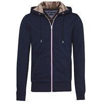 Tommy Hilfiger Sasha Long Sleeve Zip Through Hoodie Navy Blazer