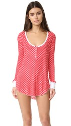 Wildfox Couture Snowed In Sleep Shirt Red Snow Day
