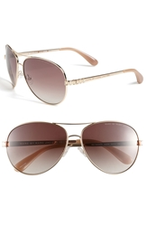 Marc By Marc Jacobs 60Mm Aviator Sunglasses Gold Red
