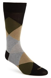 Etiquette Clothiers 'Harlequin' Argyle Socks Black