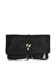 Dsquared Babe Wire Black Suede Clutch