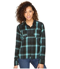 Hurley Wilson Long Sleeve Top Seaweed P Women's Long Sleeve Button Up Green