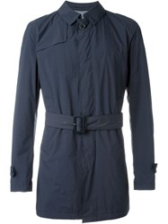 Herno Padded Trench Coat Blue