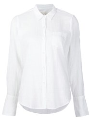 Nili Lotan Chest Pocket Shirt White