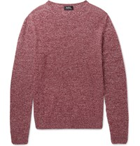 A.P.C. Space Dyed Cashmere Sweater Burgundy