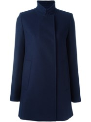 Proenza Schouler Double Breasted Short Coat Blue