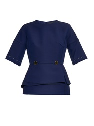 Derek Lam Wool And Silk Blend Peplum Top