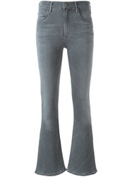 Citizens Of Humanity Mid Waisted Flared Trousers Grey
