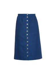 A.P.C. Jupe Olga High Waisted Denim Skirt