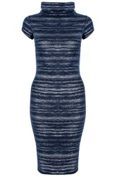 Quiz Navy Cowl Neck Bodycon Dress