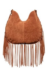 T Shirt And Jeans Fringe Hobo Brown
