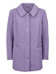 Eastex Funnel Neck Quilted Raincoat Lilac