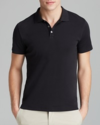 Theory Boyd Census Solid Pique Polo Slim Fit Black