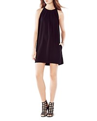 Bcbgmaxazria Pleated Trapeze Dress Black
