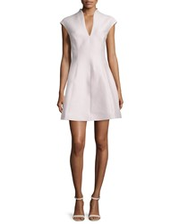 Halston Heritage Cap Sleeve A Line Dress Barely Pink Women's Size 2