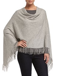 Design History Cashmere Cowl Neck Fringe Poncho Oxfrdhtrgy