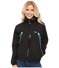 Outdoor Research Allout Hooded Jacket Black Rio Women's Coat