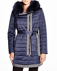 Maximilian Quilted Coat With Fox Collar Bloomingdale's Exclusive