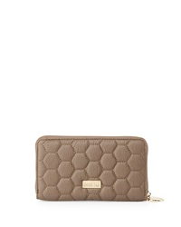 Deux Lux Quilted Honeycomb Wallet Mink