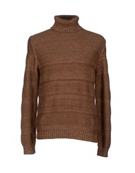 Zanone Knitwear Turtlenecks Men Khaki