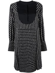 Sportmax Embroidered Shift Dress Black