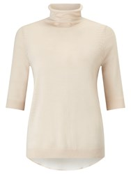 Marella Teti Silk High Neck Jumper Honey