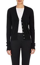 Barneys New York Women's Cashmere V Neck Cardigan Black