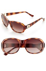 Women's Ivanka Trump 52Mm Sunglasses Honey Tortoise