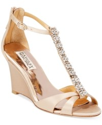 Badgley Mischka Romance Evening Sandals Women's Shoes Latte