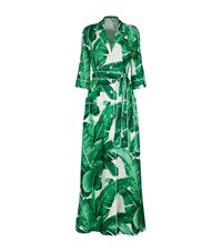 Dolce And Gabbana Palermo Botanical Shirt Dress Female Green