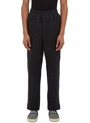 Ami Alexandre Mattiussi Carrot Cut Felted Wool Track Pants Black