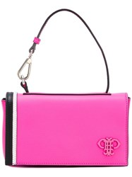 Emilio Pucci Flap Closure Tote Bag Pink Purple