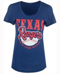 5Th And Ocean Women's Texas Rangers Fast Pitch Scoop T Shirt Royalblue