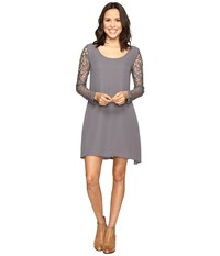 Stetson Charcoal Poly Crepe Dress Grey Women's Dress Gray