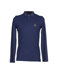 Ice Iceberg Topwear Polo Shirts Men Dark Blue