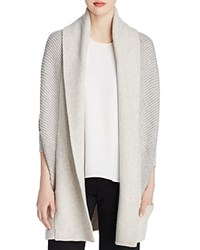 Vince Color Block Cocoon Cardigan Heather Cloud Steel