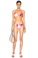 Missoni Mare Triangle Bikini In Pink Abstract