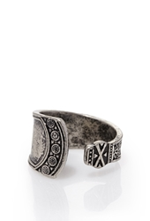 Forever 21 Engraved Open Ring Silver