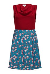 Almost Famous Painted Floral Skirt Dress Purple