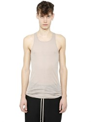 Rick Owens Ribbed Cotton Jersey Tank Top