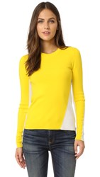 Rag And Bone Cecilee Crew Neck Sweater Yellow