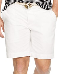 Polo Ralph Lauren Classic Fit Flat Front Chino Shorts White